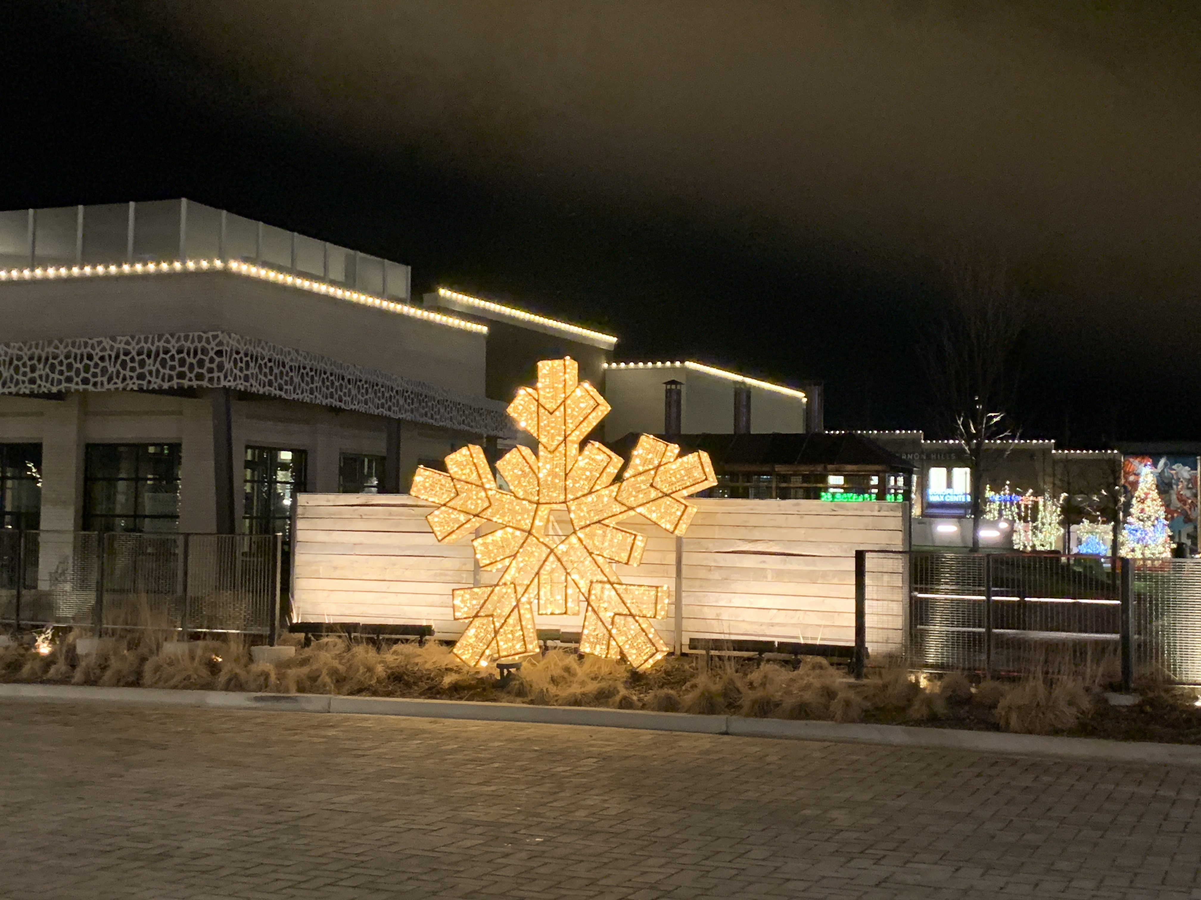3D 10ft Commercial Snowflake Warm White